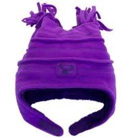 Calikids Calikids - Fleece Hat w Velcro - Imperial Purple