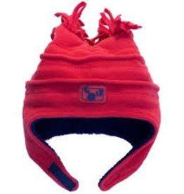 Calikids Calikids - Fleece Hat w Velcro - Red