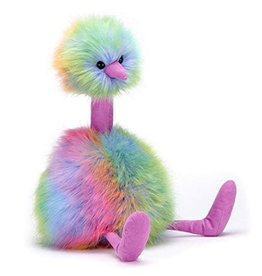 JellyCat JellyCat - Pom Pom Rainbow Ostrich Plush - Medium