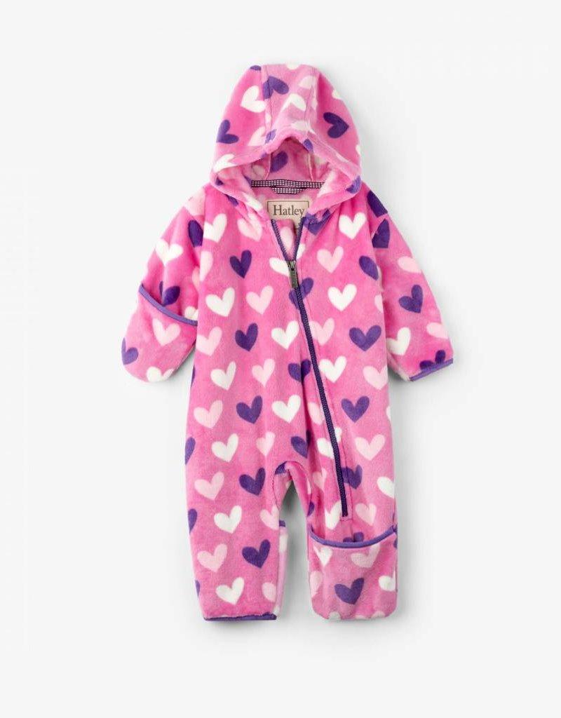 3d009f4ca133 Hatley Hatley - Multi Heart Fleece Baby Bundler - Bearheart Kids ...