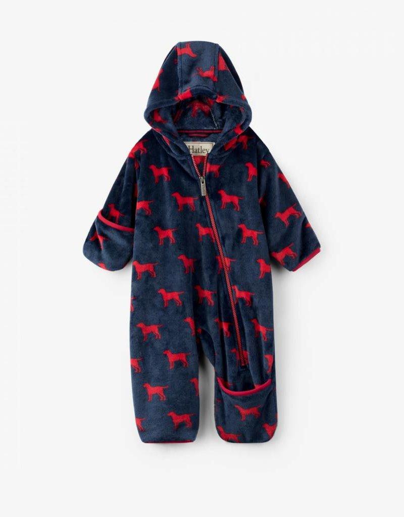 4eaf3406aa89 Hatley Hatley - Red Labs Fleece Baby Bundler - Bearheart Kids Boutique