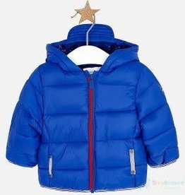 Mayoral Mayoral - Blue Puffy Coat w Red Zipper