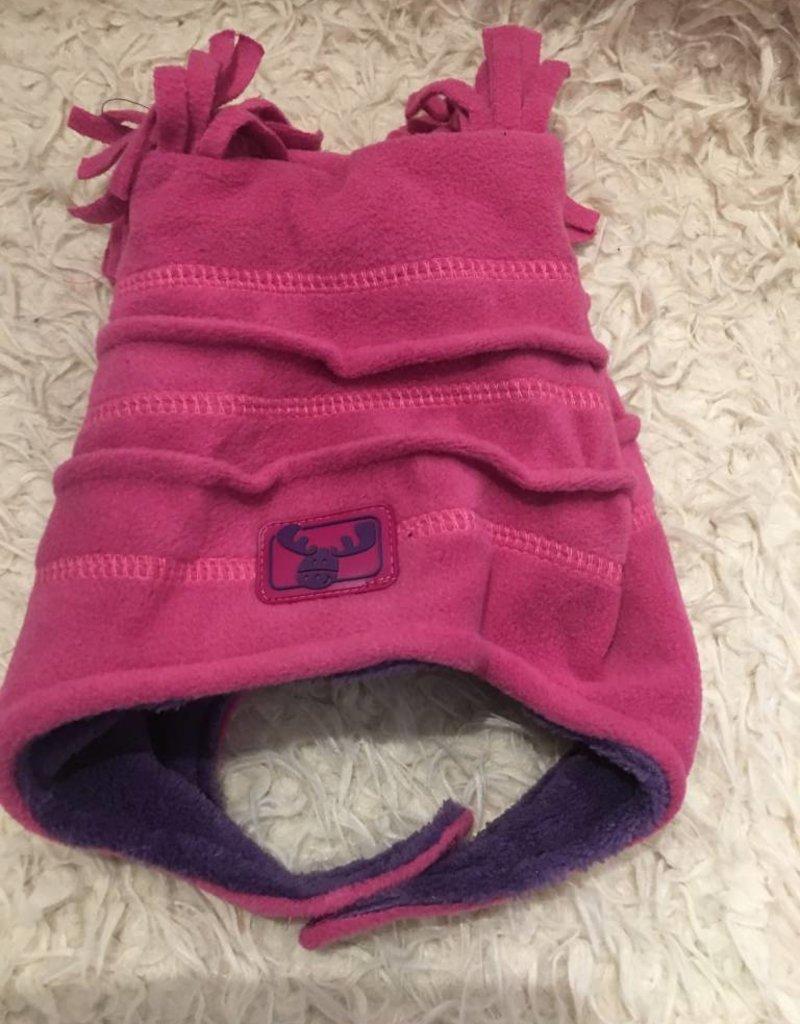 Calikids Calikids - Fleece Hat w Velcro - Fuchsia