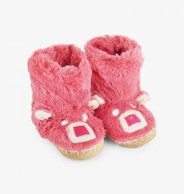 Hatley Little Blue House - Kids Slippers Pink Bear