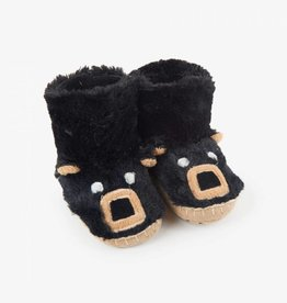 Hatley Little Blue House - Kids Slippers Black Bear
