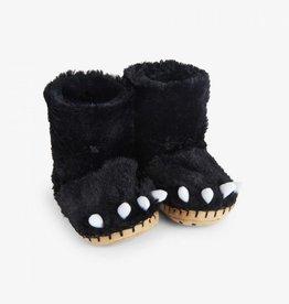 Hatley Little Blue House - Kids Slippers Black Bear Paws