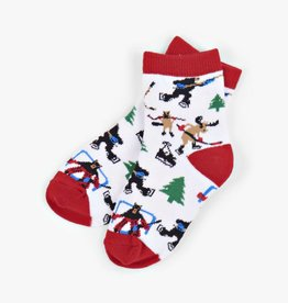 Hatley Little Blue House - Kid's Crew Socks Hockey In The Wild