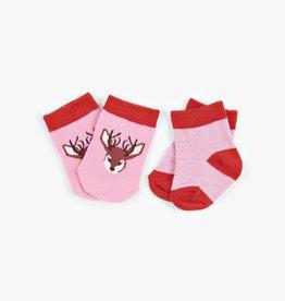 Hatley Little Blue House - Infant Socks 2-Pack Pretty Fawn