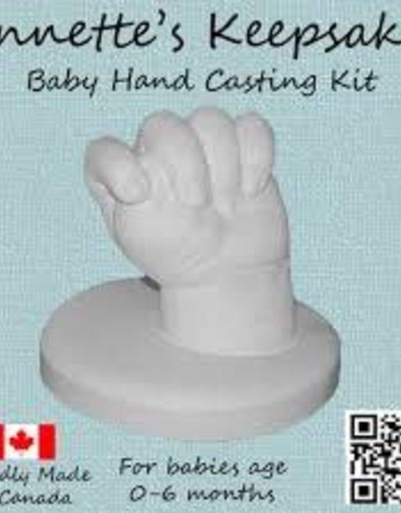 Annette's Keepsakes Annette's Keepsakes - Baby Hand Casting Kit