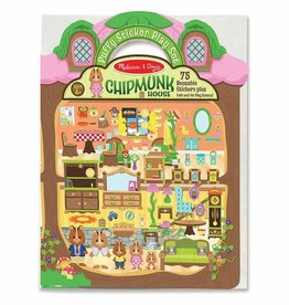 Melissa & Doug M&D - Reusable Puffy Stickers - Chipmunk House