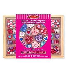 Melissa & Doug M&D - Wooden Bead Set - Sweet Hearts