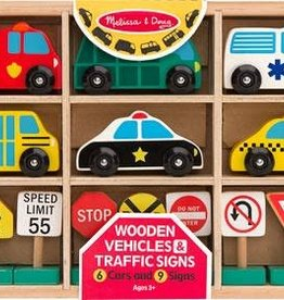Melissa & Doug M&D - Wooden Vehicles and Traffic Signs