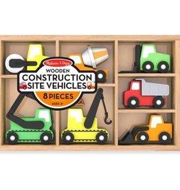 Melissa & Doug M&D - Wooden Construction Vehicles (7 vehicles)