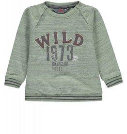 "KANZ Kanz - Grey/Green Mix ""Wild"" Long Sleeve Sweatshirt"