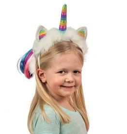 Douglas Douglas - Caticorn Dreamy Headband w Pastel Rainbow Horn
