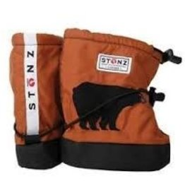 Stonz Stonz Toddler Soft Sole Booties - Rust Bear