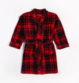 Petit Lem Petit Lem - Red/Black Plaid Unisex Robe