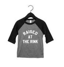 Portage & Main Portage & Main - Raised at the Rink Raglan Tee