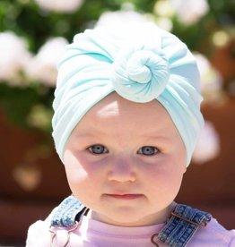 Babywisp Babywisp - Turban Knot Hat - Light Blue