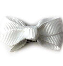 Babywisp Babywisp - Mini Latch Wisp Clip Chelsea Bow - White