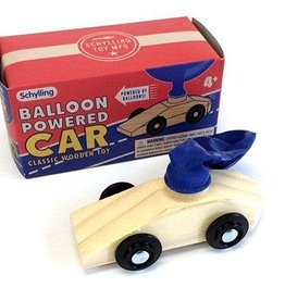 Schylling - Balloon Powered Wooden Car
