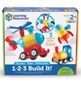 Learning Resources 1.2.3 Build It! Rocket-Train-Helicopter