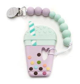LouLou Lollipop loulou LOLLIPOP - Single Silicone Teether - Taro Milk Tea Set