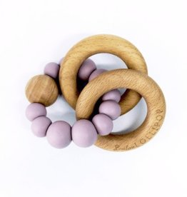 LouLou Lollipop loulou LOLLIPOP - Lilac Bubble Wood & Silicone Teether