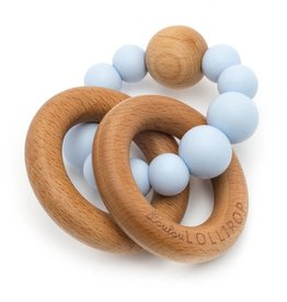 LouLou Lollipop loulou LOLLIPOP - Baby Blue Bubble Wood & Silicone Teether