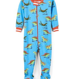 Hatley Hatley - Scooting Dinos Organic Footed Coverall