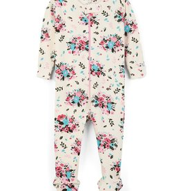 Hatley Hatley - Floral Hedgehogs Organic Cotton Footed Coverall
