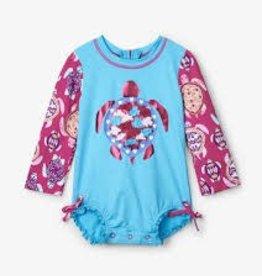 Hatley - Pretty Sea Turtles Baby Rashguard Swimsuit