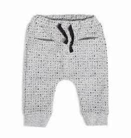 Petit Lem Miles Baby - Grey Print Knit Sweat Pants