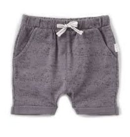Petit Lem Miles Baby - Grey Speckled Knit Shorts