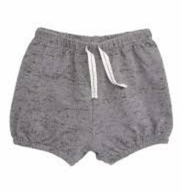 Petit Lem Miles Baby - Grey Speckled Knit Elasticized Shorts