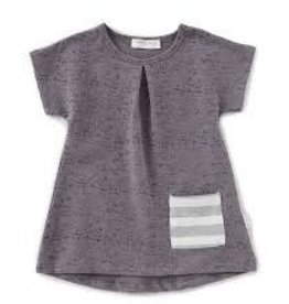Petit Lem Miles Baby - Grey Speckled Tunic w Pocket