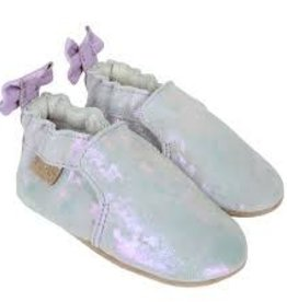 robeez Robeez - Pretty Pearl Silver Iridescent Soft Soles