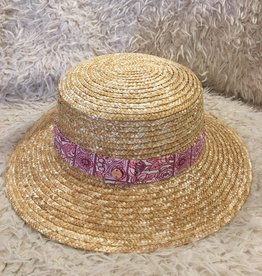 Millymook Millymook - Natural Girls Boater Hat - Bridget