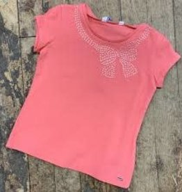 Mayoral Mayoral - Coral Tee w Bow Applique