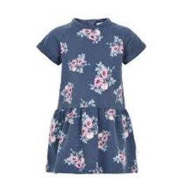 Minymo Minymo - Blue Floral Fleece Dress