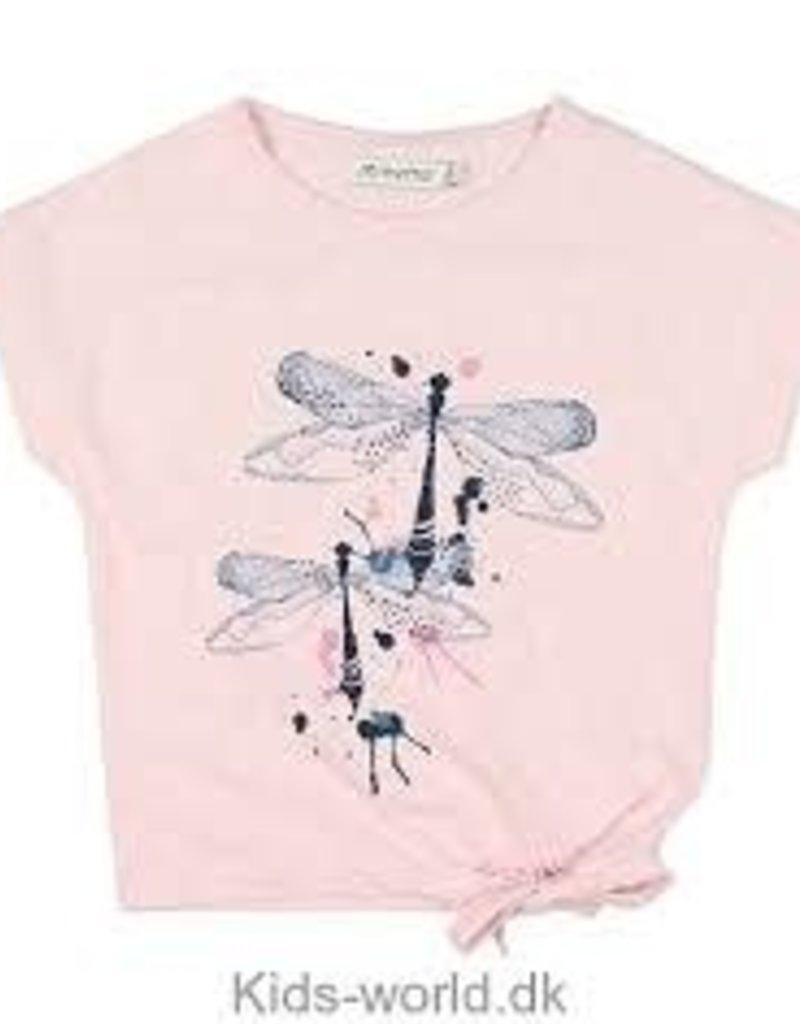 Minymo Minymo - Pink Dragonfly Tee w Tie