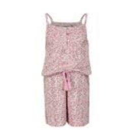 Minymo Minymo - Pink Floral Bamboo Romper