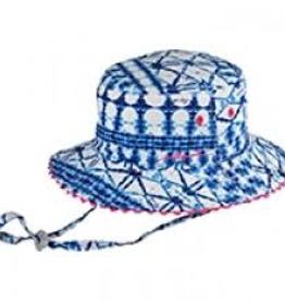 Millymook Millymook - Girls Floppy Hat - Tammy Blue Cotton