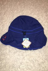 Calikids Calikids - Quick Dry Flap Hat Navy w Crab Applique