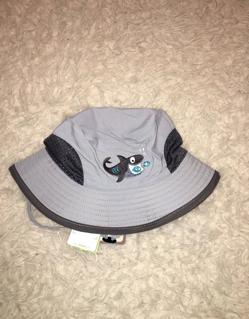 Calikids Calikids - Quick Dry Bucket Hat Grey w Shark