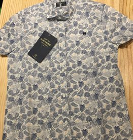 Nukutavake Mayoral - Short Sleeve Palm Tree Print Button Up