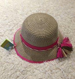 Calikids Calikids - Straw Hat w Fuschia Trim