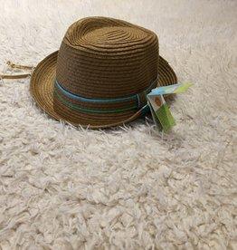 Calikids Calikids - Fedora Hat w Turquoise/Lime Stripe Banc