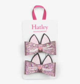 Hatley Hatley - Glitter Kitties Hair Clips