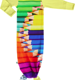 Inchworm Alley Inchworm Alley - Pencil Crayons Gown w Tie